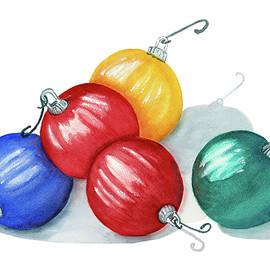 Watercolor Art Print Christmas Ornaments by Deborah League