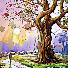 Watercolor Concept landscape sketch nature by Vector Convert