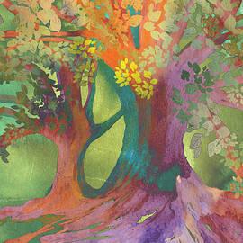 Watercolor Forest by Nancy Merkle
