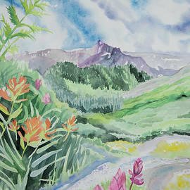 Watercolor - View from Yankee Boy Basin by Cascade Colors