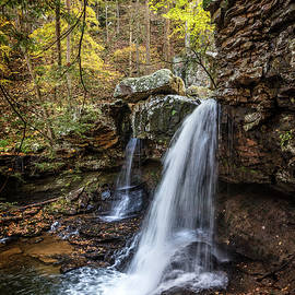 Waterfall Cascades in Cloudland Canyon by Debra and Dave Vanderlaan