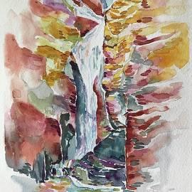 Waterfall near Red rocks by Prasida Yerra