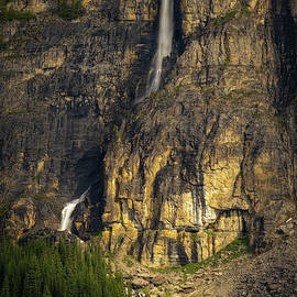 Waterfall Rockbound Lake, Banff National Park, Alberta Canada. by Yves Gagnon
