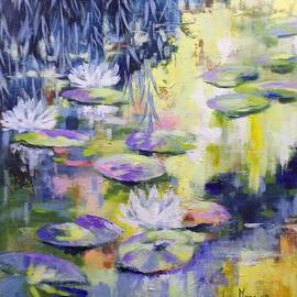 Waterlilies In Yellow by Cathy MONNIER