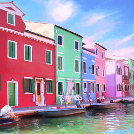 Waterway on Isola di Burano by Dominic Piperata