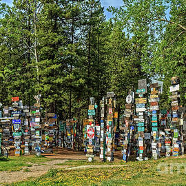 Watson Lake Sign Post Forest by Robert Bales