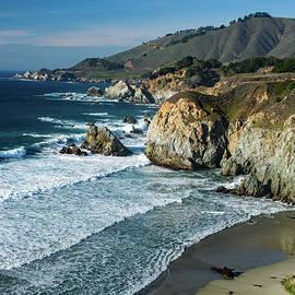 Wave on Wave Big Sur Coast California by Mitch Knapton