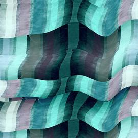 Waves Abstract Modern Art by Ann Powell