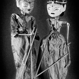 Wayang Golek puppets monochrome by Rudy Umans