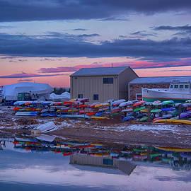 Webhannet River Boat Yard - Wells Harbor, Maine by Joann Vitali