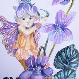 Wee Fairy of Violets by Mindy Newman