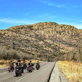 Weekend Bikers Touring Mt. Scott by Diana Mary Sharpton