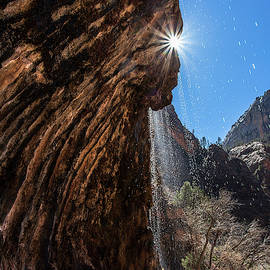 Weeping Rock Sheds Many a Tear by Garth Steger