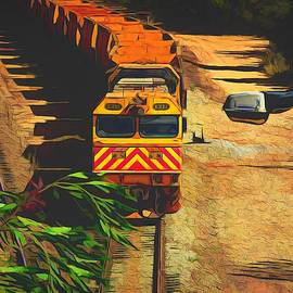 Weipa Ore Train Overpass by Joan Stratton
