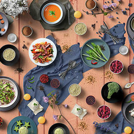 Welcome To My Colorful And Delicious Spring Dinner by Johanna Hurmerinta