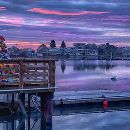 Wells Beach Sunrise - Christmas Buoy Tree by Joann Vitali