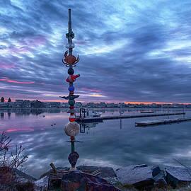 Wells Harbor Nautical Totem Pole by Joann Vitali