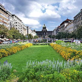Wenceslas Square, Prague, Czech Republic by Lyuba Filatova