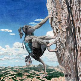 Wererat Girl Rock Climbing by Ted Helms