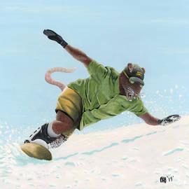 Wererat Snowboarder by Ted Helms