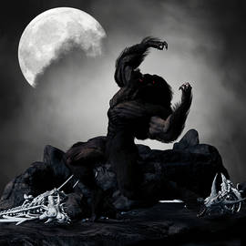 Werewolf Monster Moon Fantasy 1 by Barroa Artworks