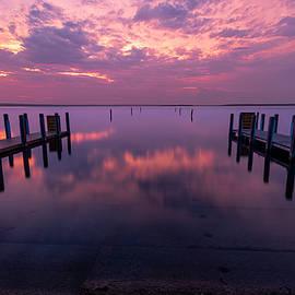 West Boat Launch Calm Sunrise by Ron Wiltse