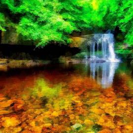 West Burton Falls by Jerzy Czyz