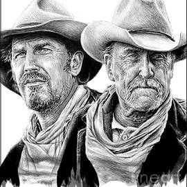 Western Icons 6 Costner and Duvall by Andrew Read