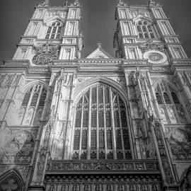 Westminster Abbey Black And White by Mo Barton