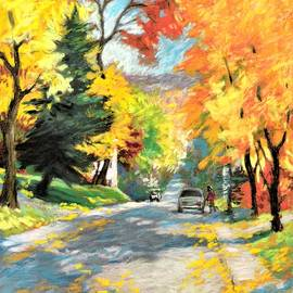 Westmount Yellow Maples by Rose Wark