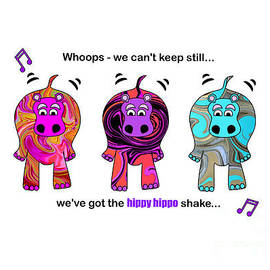 We've got the hippo hippo shake by Barefoot Bodeez Art