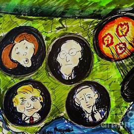 Whac A Mole Donald Trump Bernie Sanders Joe Biden Nancy Pelosi by Geraldine Myszenski