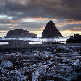 Whales Head Sunset by Steven Clark