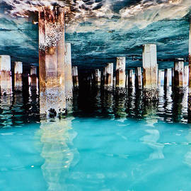 Wharf Reflections by Michael Cinnamond