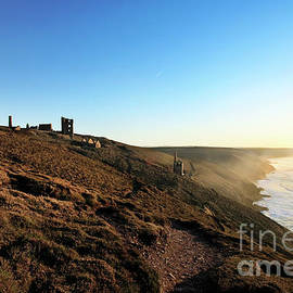 Wheal Coates Cliffs at Sunset by Terri Waters