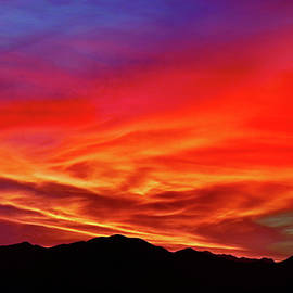 When The Western Sky Caught Fire by Douglas Taylor