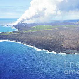 Where Kilauea Meets the Ocean by Scott Pellegrin