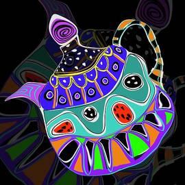 Whimsical Teapot Hippy Trippy  by Sarah Niebank