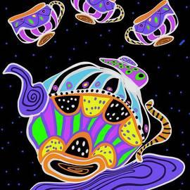 Whimsical Art Trippy Tea Set by Sarah Niebank