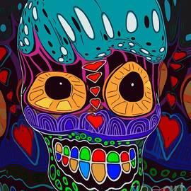 Whimsical  Halloween Dia De Muertos  by Sarah Niebank