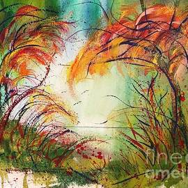 Whimsical Watercolor Orange You Autumn by Catherine Ludwig Donleycott