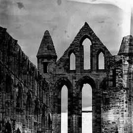 Whitby Abbey in Black and White by Arro FineArt