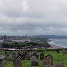 Whitby panorama across St. Marys churchyard by Paul Boizot