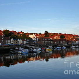 Whitby river reflections by Paul Boizot