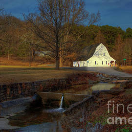 White Barn at Trail of Tears State Forest by Larry Braun