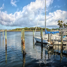 White Clouds and Boats at the Boynton Inlet Marina by Debra and Dave Vanderlaan