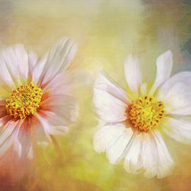 White Dancing Flowers by Terry Davis