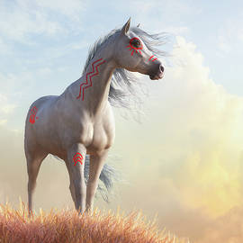 White Horse in War Paint by Daniel Eskridge