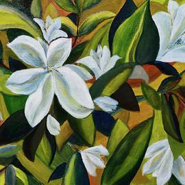 White magnolias by Aniko Hencz
