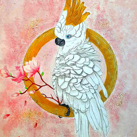 White Moluccan Cockatoo by Aimy Art